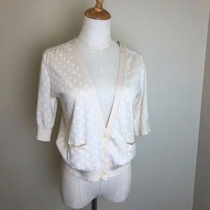 Country road cream coloured crop knit cardigan